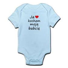 I love MY Grandma (Polish) Infant Bodysuit