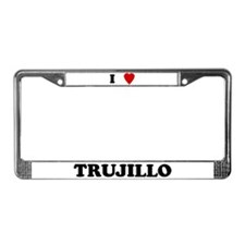 I Love Trujillo License Plate Frame