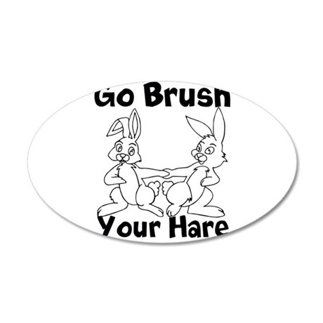 Brush Your Hare 38.5 x 24.5 Oval Wall Peel