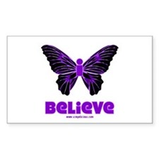iBelieve - Purple Rectangle Decal