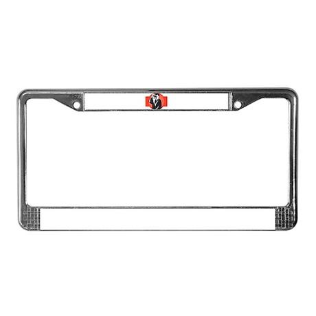 photographer dslr camera License Plate Frame