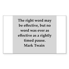 Mark Twain quote Decal