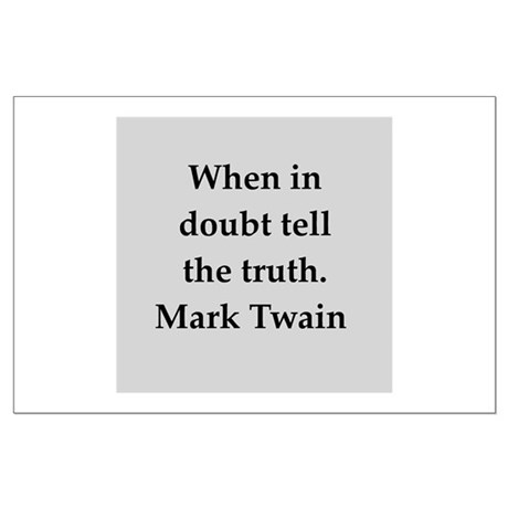 Mark Twain quote Large Poster