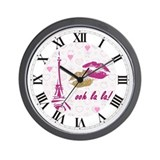 OOH LA LA PARIS Wall Clock