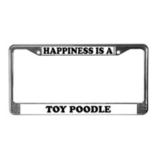Happiness Is A Toy Poodle License Plate Frame