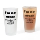not mean Drinking Glass