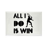 All I do is Win Racquetball Rectangle Magnet (100