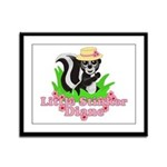 Little Stinker Diane Framed Panel Print