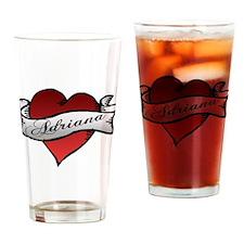 Adriana Heart Tattoo Drinking Glass
