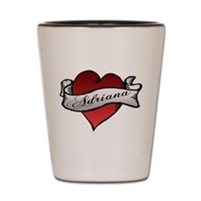Adriana Heart Tattoo Shot Glass