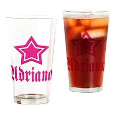 Star Adriana! Drinking Glass