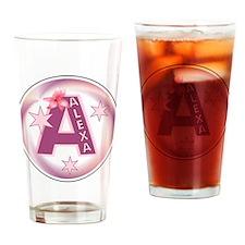Alexa Star Initial Drinking Glass