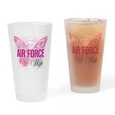 Proud Air Force Wife Drinking Glass