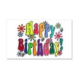 Happy Birthday Car Magnet 20 x 12