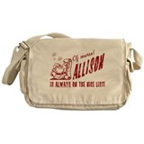 Nice List Allison Christmas Messenger Bag