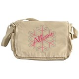 Snowflake Allison Personalize Messenger Bag