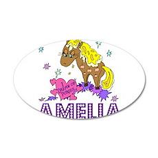 I Dream Of Ponies Amelia 22x14 Oval Wall Peel