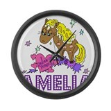 I Dream Of Ponies Amelia Large Wall Clock
