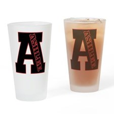 ASHLEE Letterman design Red/b Drinking Glass