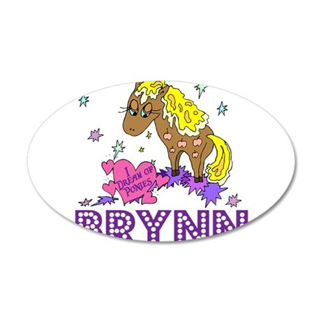 I Dream of Ponies Brynn 38.5 x 24.5 Oval Wall Peel