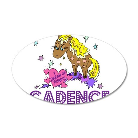 I Dream Of Ponies Cadence 22x14 Oval Wall Peel
