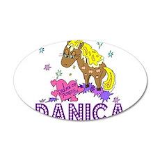 I Dream Of Ponies Danica 38.5 x 24.5 Oval Wall Pee