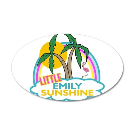 Island Girl Emily Personalize 38.5 x 24.5 Oval Wal