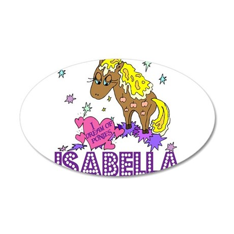 I Dream Of Ponies Isabella 38.5 x 24.5 Oval Wall P