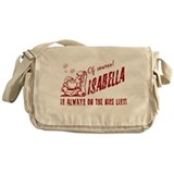 Nice List Isabella Christmas Messenger Bag