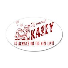 Nice List Kasey Christmas 22x14 Oval Wall Peel