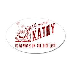 Nice List Kathy Christmas 38.5 x 24.5 Oval Wall Pe