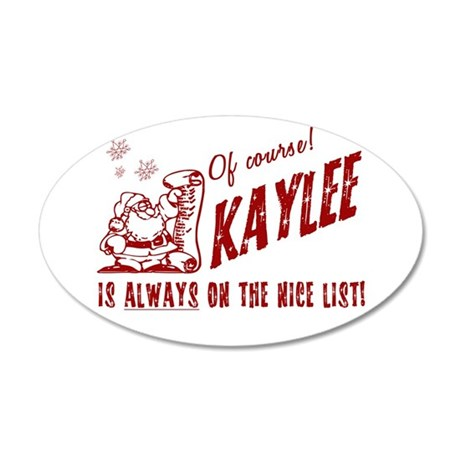 Nice List Kaylee Christmas 38.5 x 24.5 Oval Wall P