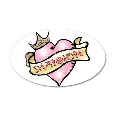 Sweetheart Shannon Custom Pri 22x14 Oval Wall Peel