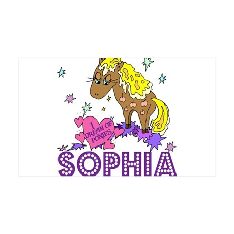 I Dream Of Ponies Sophia 38.5 x 24.5 Wall Peel