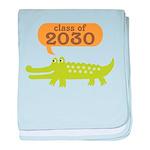 Class of 2030 Alligator baby blanket