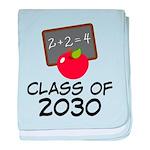 School Class of 2030 Apple baby blanket