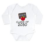 School Class of 2030 Apple Long Sleeve Infant Body