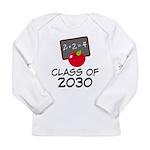 School Class of 2030 Apple Long Sleeve Infant T-Sh