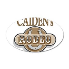 Caiden's Rodeo Personalized 22x14 Oval Wall Peel