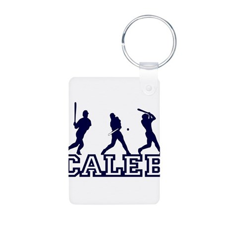 Baseball Caleb Personalized Aluminum Photo Keychai
