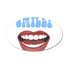 Healthy Smile 38.5 x 24.5 Oval Wall Peel