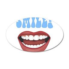 Healthy Smile 22x14 Oval Wall Peel
