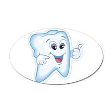 Healthy Happy Tooth 22x14 Oval Wall Peel