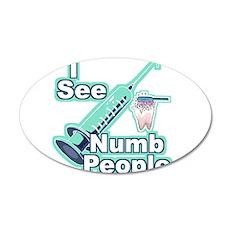 I See NUMB People! 38.5 x 24.5 Oval Wall Peel