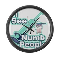 I See NUMB People! Large Wall Clock