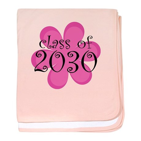 Class of 2030 Pink Daisy baby blanket