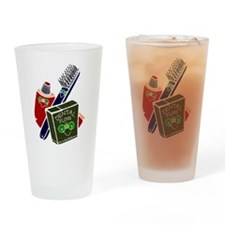 Toothbrush Toothpaste Floss Drinking Glass