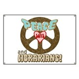 Peace Love and Librarians Banner