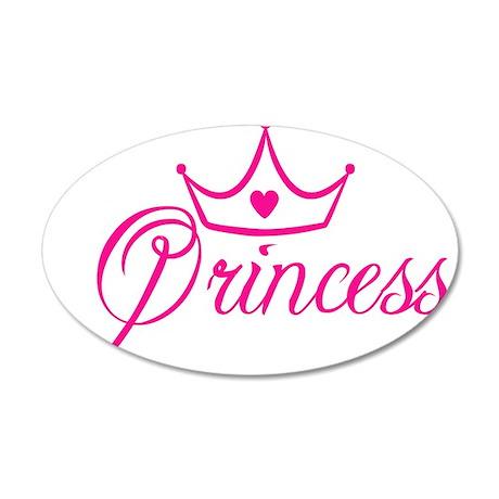 Princess 22x14 Oval Wall Peel