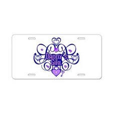 Daddy's Girl Blue/Lavender Aluminum License Plate